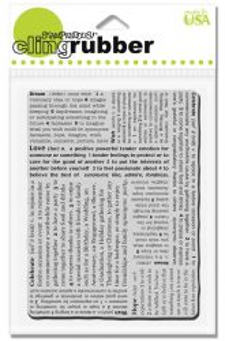 STAMPENDOUS USA  - Гумен клинг печат DREAM TEXT 10x13 см.