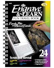 """Engrave & Learn - Книга за гравиране  """"12 Домашни любимци и приятели"""""""