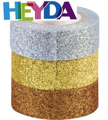 HEYDA GLITTER  tape - Брокатно тиксо 3бр 15мм х 3м