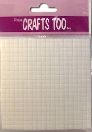 Foam Pads 10cm x 10cm (3mm thick) - 3Д двойно лепящи квадратчета