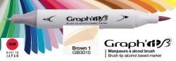 # GRAPH IT BRUSH MARKER - Двувърх дизайн маркери ЧЕТКА - BROWN 1