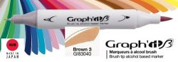 # GRAPH IT BRUSH MARKER - Двувърх дизайн маркери ЧЕТКА - BROWN 3