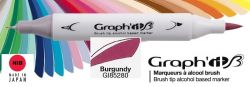# GRAPH IT BRUSH MARKER - Двувърх дизайн маркери ЧЕТКА - BURGUNDY
