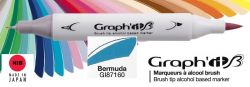 # GRAPH IT BRUSH MARKER - Двувърх дизайн маркери ЧЕТКА - BERMUDA