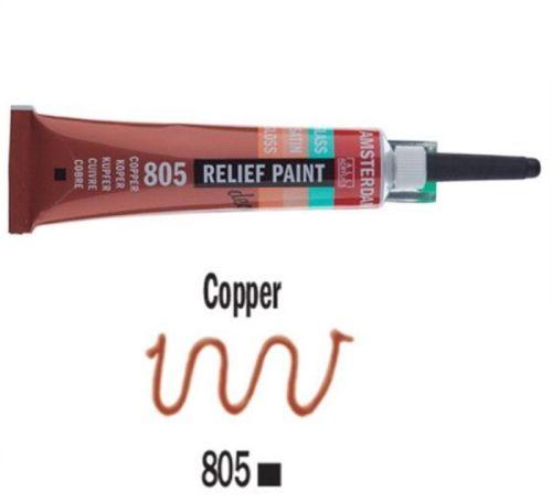 DECORFIN RELIEF, Talens 20ml - Контур за стъкло и др. повърхности - Медно