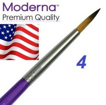 MODERNA BRUSH  Round, USA - Профи  четка за различни техники № 4