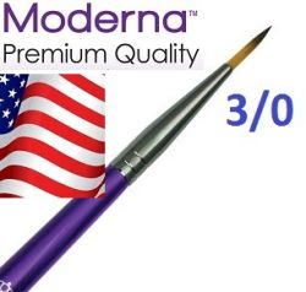 MODERNA BRUSH Round, USA - Профи  четка за различни техники № 3/0
