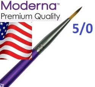 MODERNA  BRUSH Round, USA - Профи  четка за различни техники № 5/0