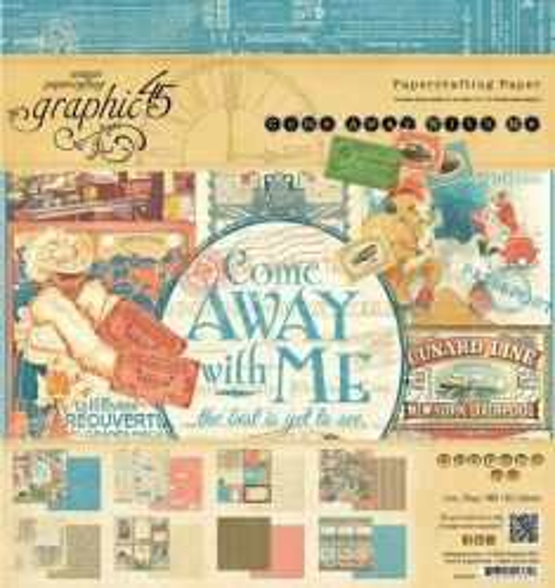 Graphic45, USA - Дизайн блок 20 x 20 - Come Away With Me