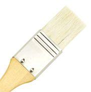 """LANGNICKEL  white BRUSH 2.5""""- Плоска натурална мека четка  70мм"""