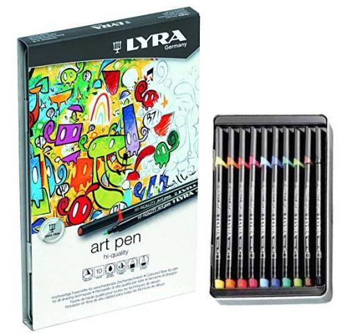 LYRA HI-QUALITY ARTPEN 10 - Метална кутия Lyra маркери за рисуване F 10бр