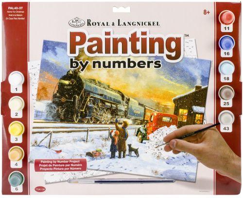 R&L USA #  HOME TRAIN - Рисуване по номера  А3- * PAL40