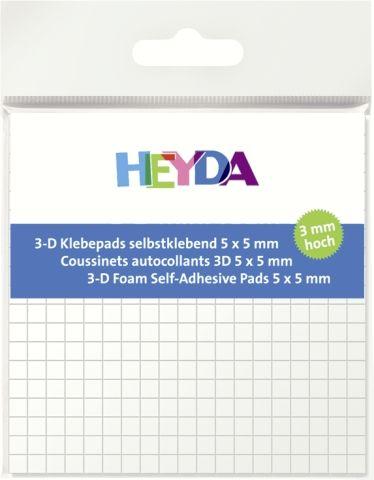 ADHESIVE PADS - 3Д двойно лепящи квадратчета - 5х5х3mm/ 361бр.