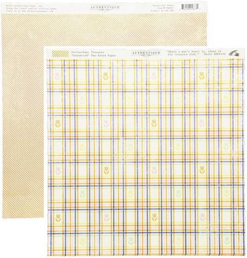 AUTHENTIQUE USA #  CONNECTED - Дизайнерски скрапбукинг картон 30,5 х 30,5 см.
