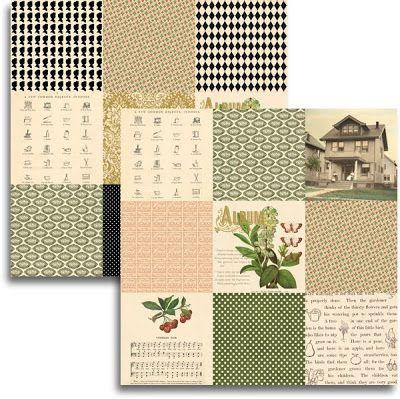 JENNI BOWLIN USA # HAVEN - Дизайнерски скрапбукинг картон 30,5 х 30,5 см.
