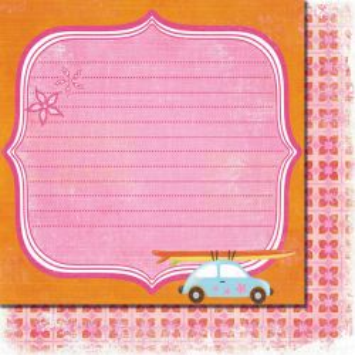 FANCY PANTS USA # BEACH BABE - Дизайнерски двустранен скрапбукинг картон 30,5 х 30,5 см.