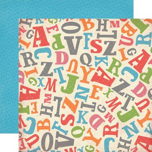 CARTA BELLA USA # ALPHABET - Дизайнерски двустранен скрапбукинг картон 30,5 х 30,5 см.