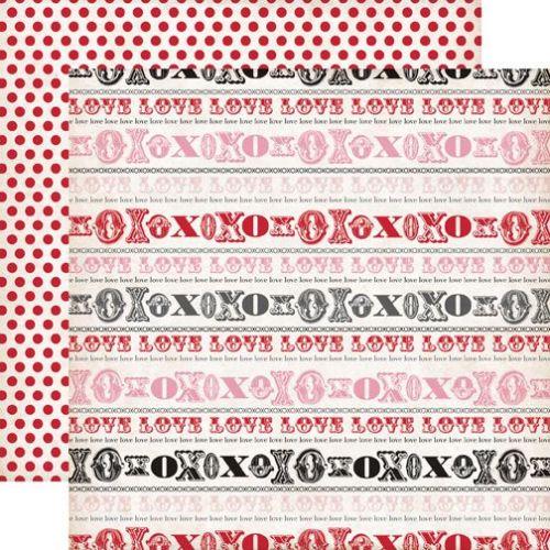 ECHO PARK USA # YOURS TRULY - Дизайнерски двустранен скрапбукинг картон 30,5 х 30,5 см.