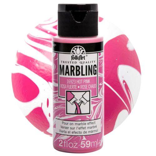FOLK ART  NEW MARBLING PAINT - Боя за мраморен ефект 59мл HOT PINK / РОЗОВ