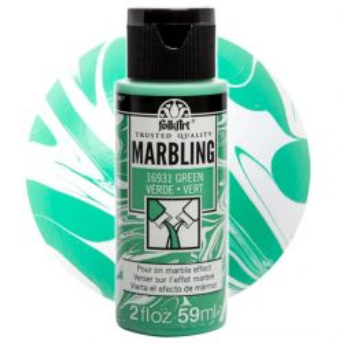 FOLK ART  NEW MARBLING PAINT - Боя за мраморен ефект 59мл GREEN / ЗЕЛЕН