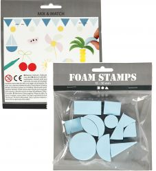 FOAM STAMPS 15-30mm 12pc-  Печати тип гъба