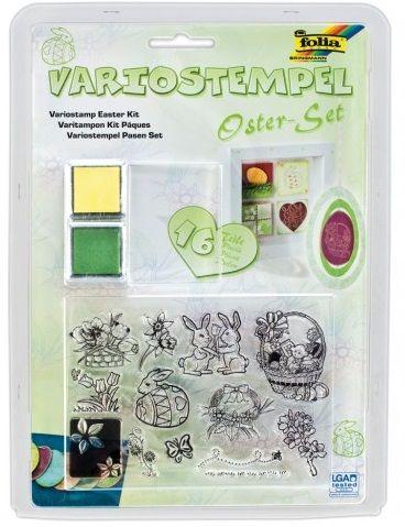 EASTER by FOLIA  STAMPS SET -Комплект прозрачни печати 16 части