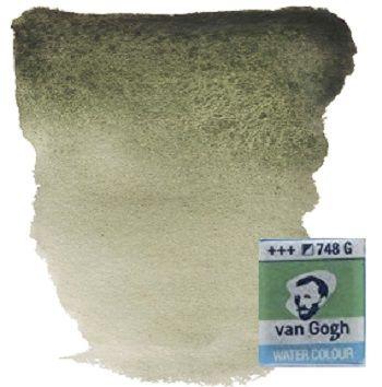 VAN GOGH WATERCOLOUR PAN - Екстра фин акварел `кубче` # davys grey 748 G