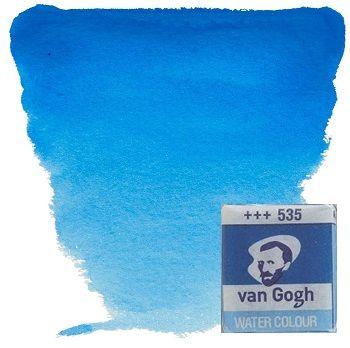VAN GOGH WATERCOLOUR PAN - Екстра фин акварел `кубче` # Cerulean blue phthalo 535