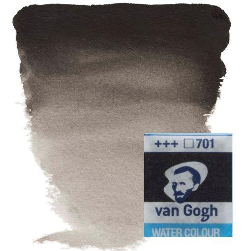 VAN GOGH WATERCOLOUR PAN - Eкстра фин акварел `кубче` #  Ivory black 701
