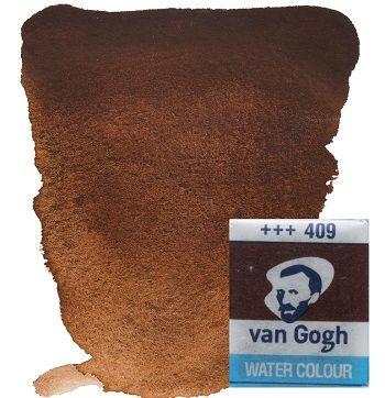 VAN GOGH WATERCOLOUR PAN - Екстра фин акварел `кубче` # Burnt umber 409