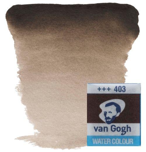 VAN GOGH WATERCOLOUR PAN - Екстра фин акварел `кубче` #  Vandyke brown 403
