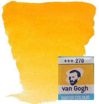 VAN GOGH WATERCOLOUR PAN - Екстра фин акварел `кубче` # Yellow deep 270