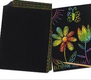 Engraving Art CARD pack - ЧЕРЕН КРЕДОВ КАРТОН 10бр + чертилка