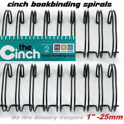 """CINCH WIRE BINDING SPIRALS - Двойни спирали за подвързване  1"""" 25мм  / 10бр ЧЕРНИ"""
