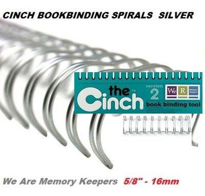 """CINCH WIRE BINDING SPIRALS - Двойни спирали за подвързване  5/8"""" 16мм  / 10бр СРЕБРО"""