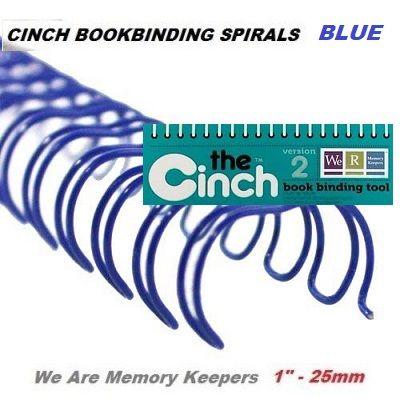"""CINCH WIRE BINDING SPIRALS - Двойни спирали за подвързване  1"""" 25мм  / 10бр СИНИ"""