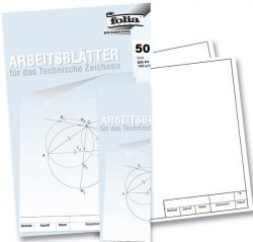DRAWING PAPER 120g 50sheets . - Пакет чертожна хартия А3 с рамка за ТЕХНИЧЕСКО ЧЕРТАНЕ 50листа