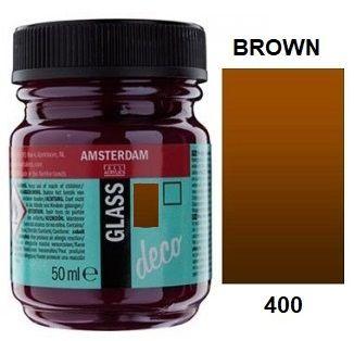 Decorfin GLASS 50ml , TALENS - Витражна боя от най-високо качество - Кафяво