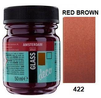Decorfin GLASS 50ml , TALENS - Витражна боя от най-високо качество - Английско червено
