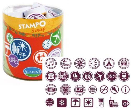 ALADINE STAMPO Scrap - Комплект гумени печати 03704