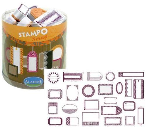 ALADINE STAMPO Scrap - Комплект гумени печати 03711