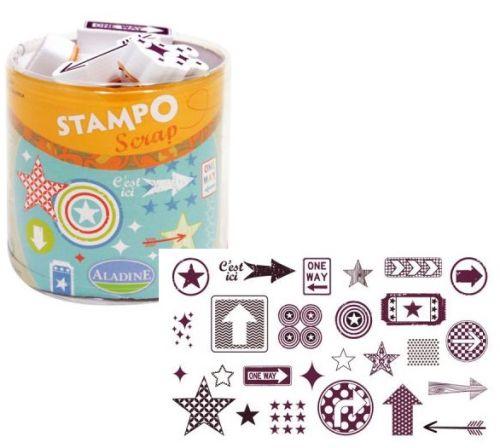 ALADINE STAMPO Scrap - Комплект гумени  печати 03710