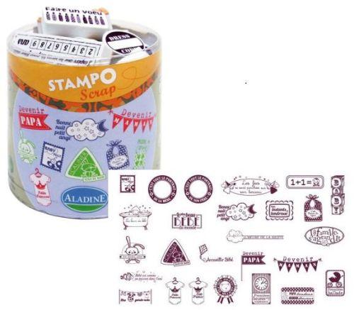 ALADINE STAMPO Scrap - Комплект гумени печати 03705