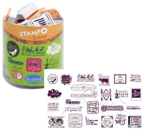 ALADINE STAMPO Scrap - Комплект гумени печати 03707