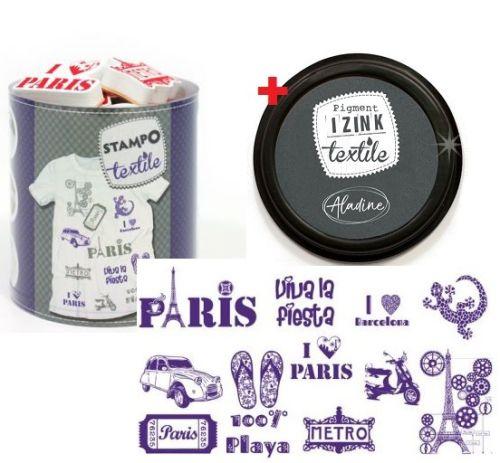 ALADINE STAMPO TEXTILE Aladine - Комплект печати+тампон за текстил 05255