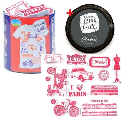 ALADINE STAMPO TEXTILE  - Комплект печати+тампон за текстил 05260