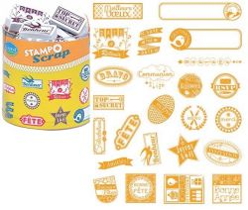 ALADINE STAMPO Scrap - Комплект гумени печати 03725