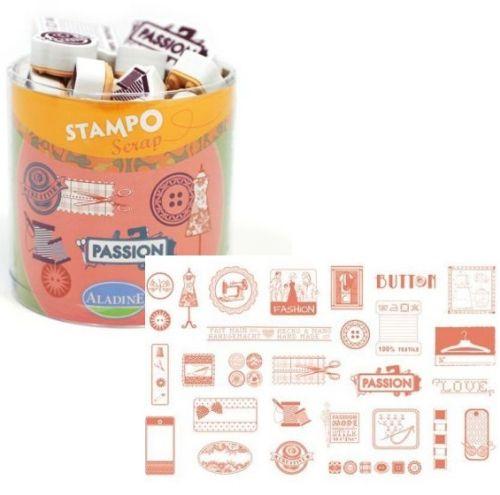 ALADINE STAMPO Scrap - Комплект гумени печати 03717
