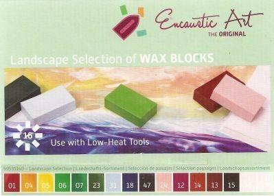Encaustic ART WAX SET - Комплект 16 цв. восък за Енкаустика - LANDSCAPE SET