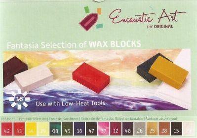 Encaustic ART WAX SET - Комплект 16 цв. восък за Енкаустика FANTASIA SET